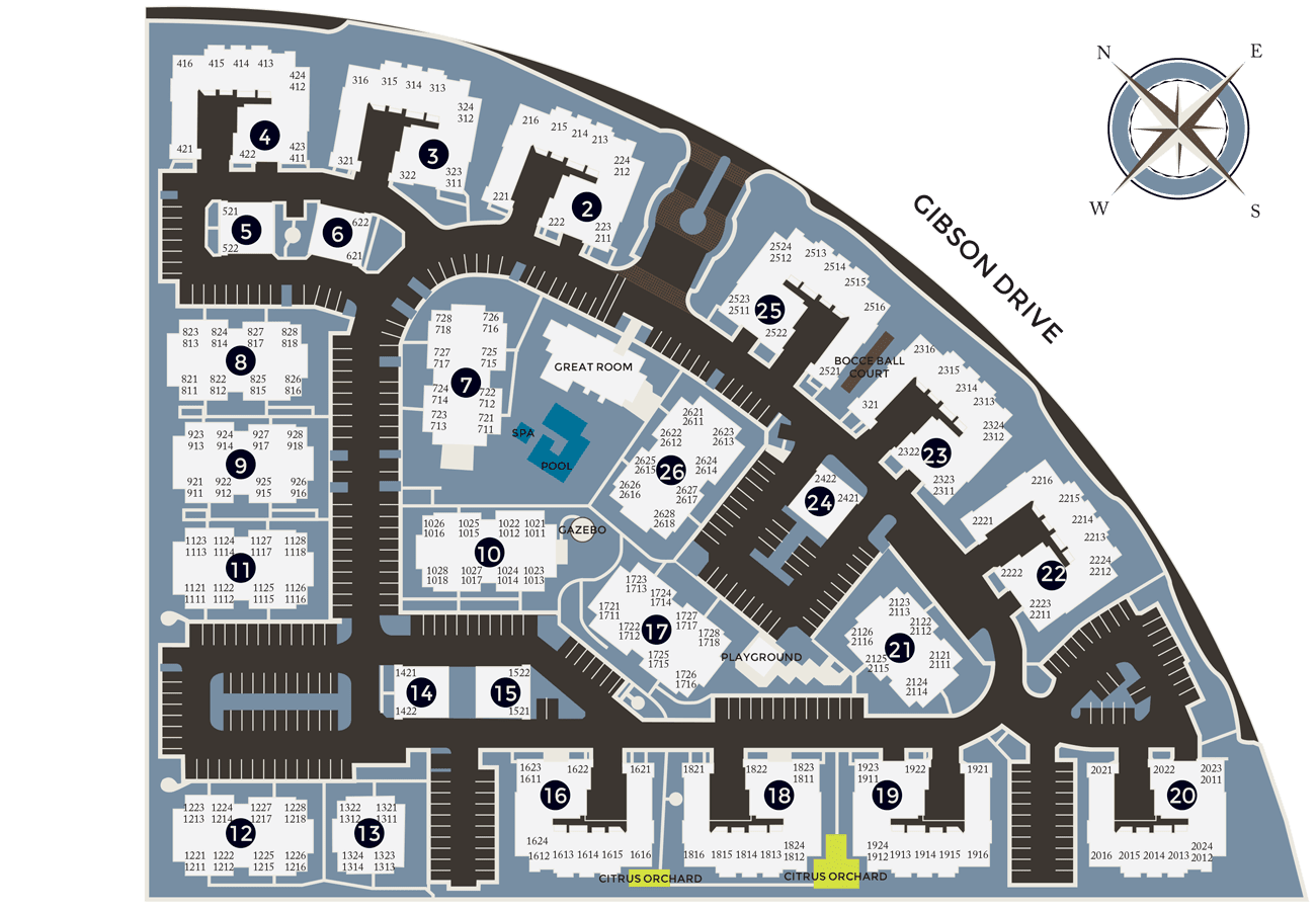 View a map of Venu at Galleria Condominium Rentals in Roseville, California