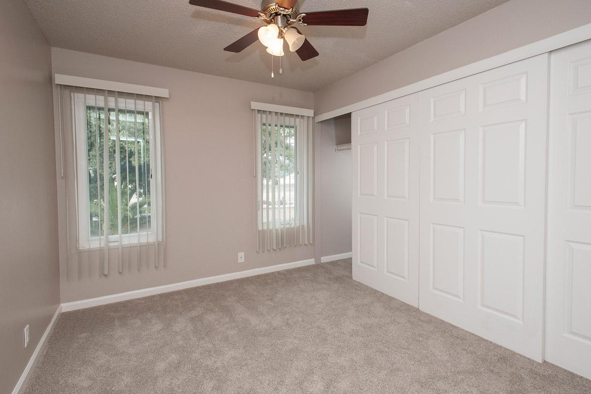 Bedroom With Large Closet at Villa Palms Apartment Homes in Livermore