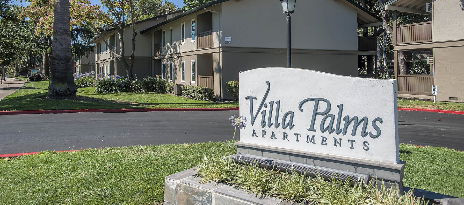 Signage at Villa Palms Apartment Homes in Livermore, California