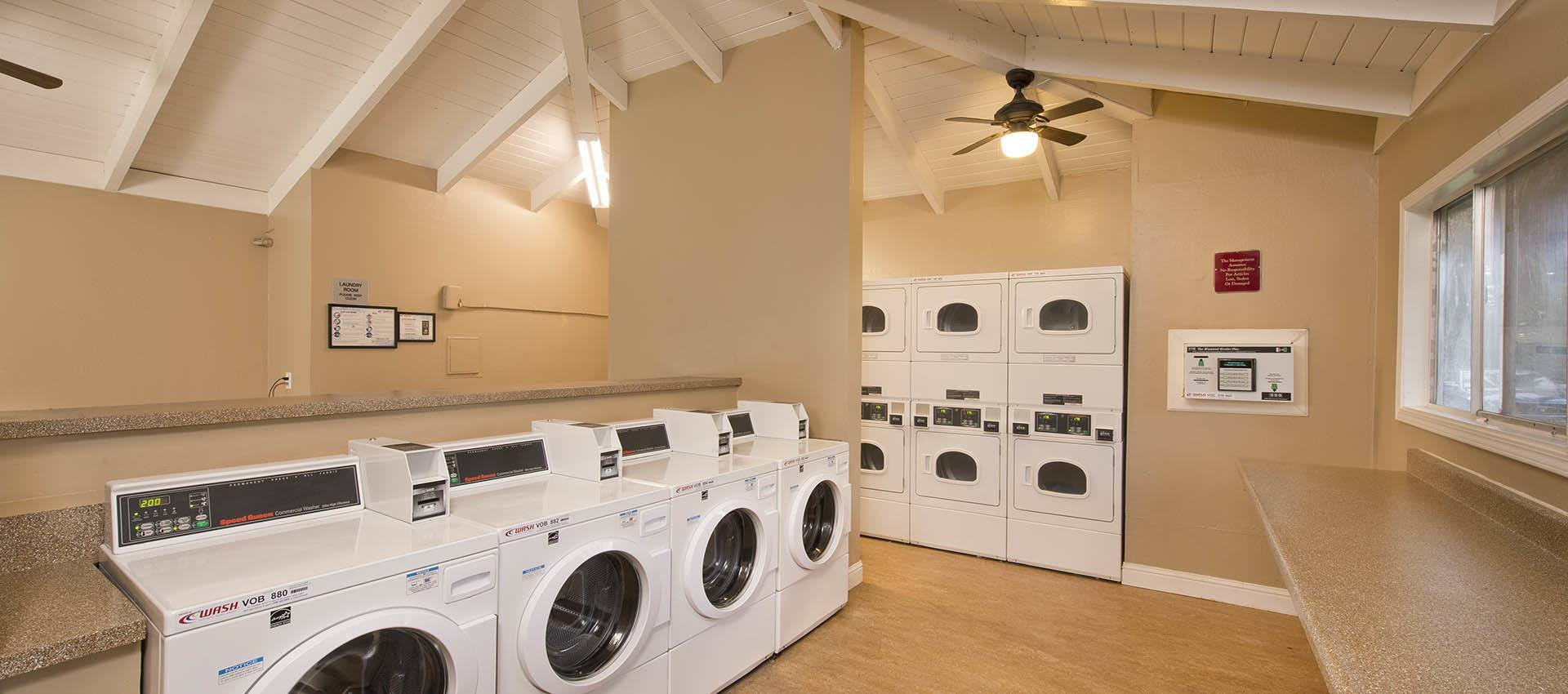 Laundry facilities at Villa Palms Apartment Homes in Livermore, California