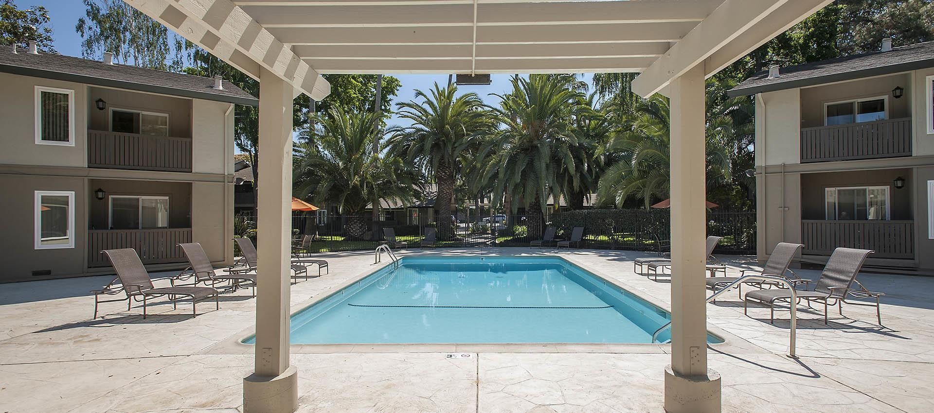 Pool at Villa Palms Apartment Homes in Livermore, California
