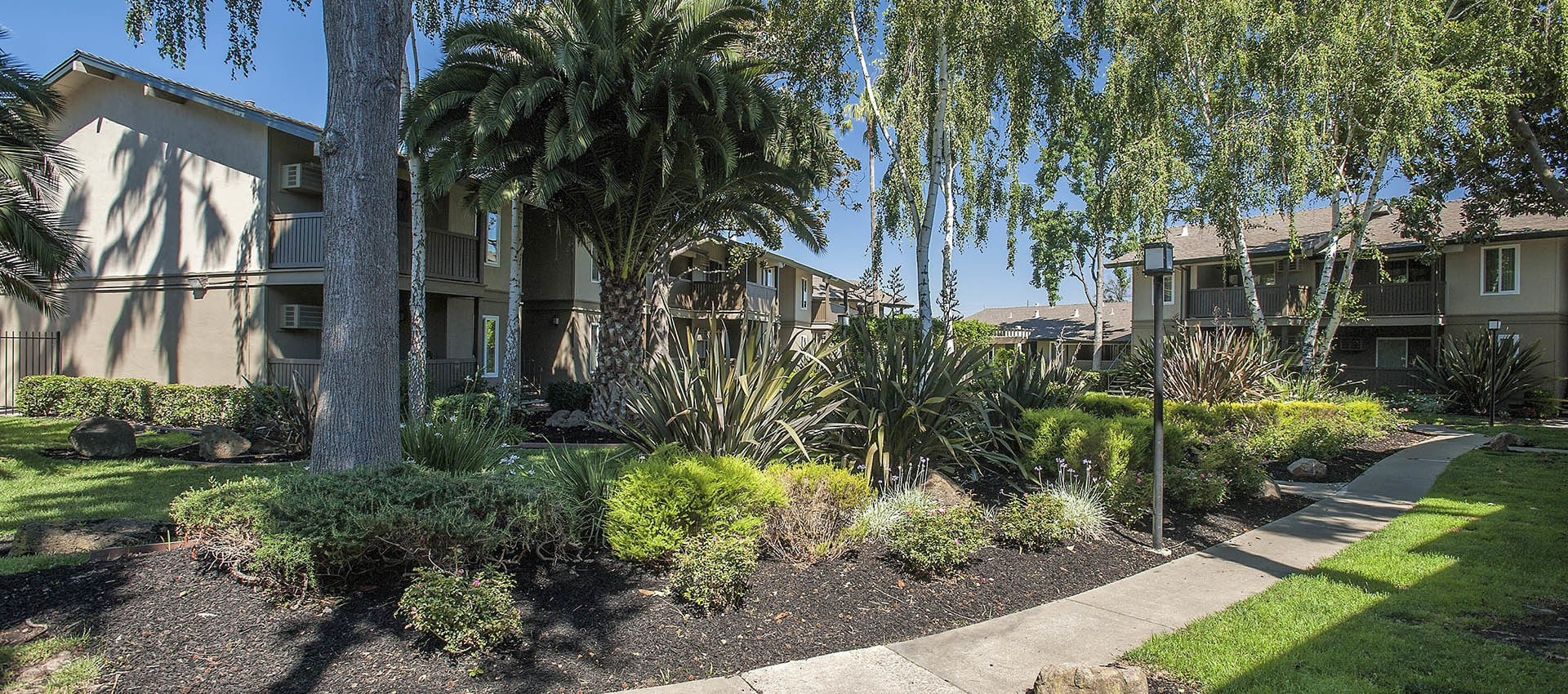 Walkway at Villa Palms Apartment Homes in Livermore, California