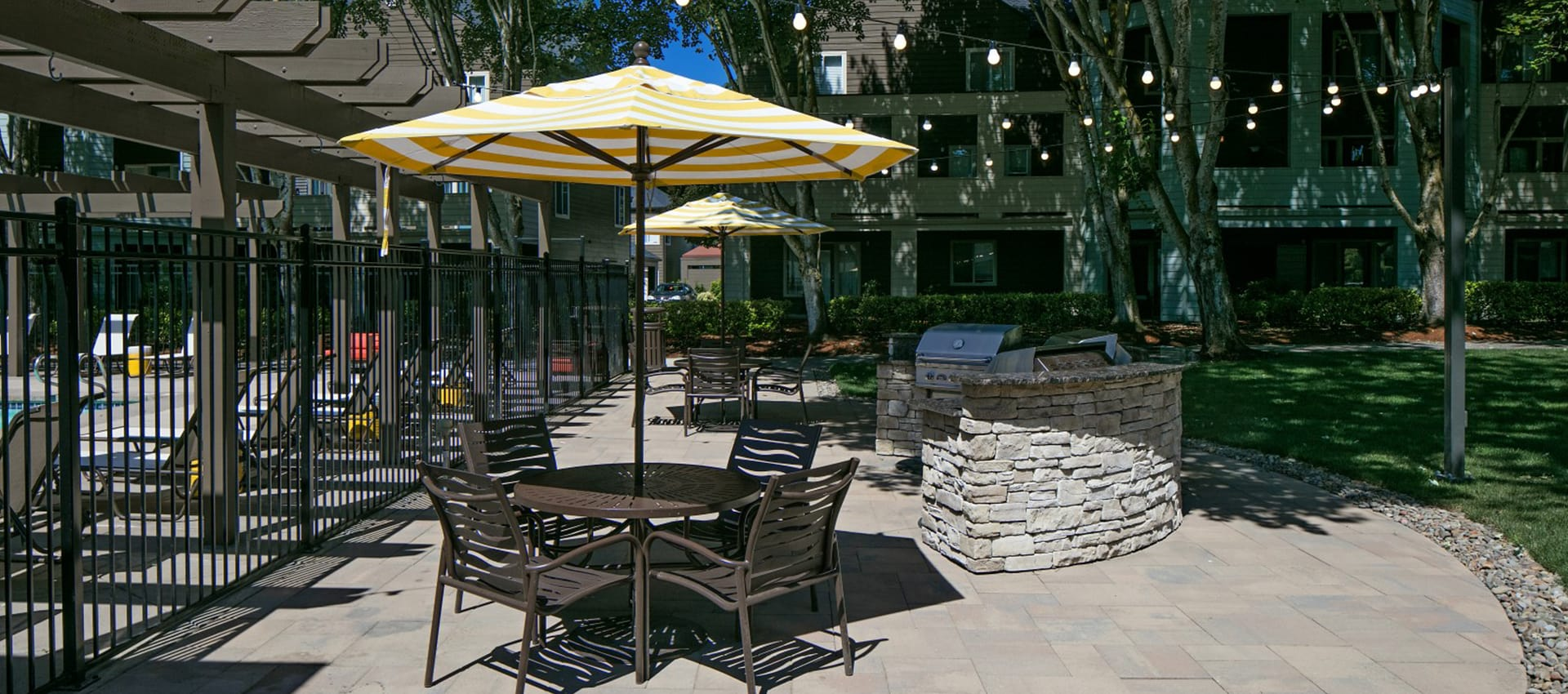BBQ area at Waterhouse Place in Beaverton, OR