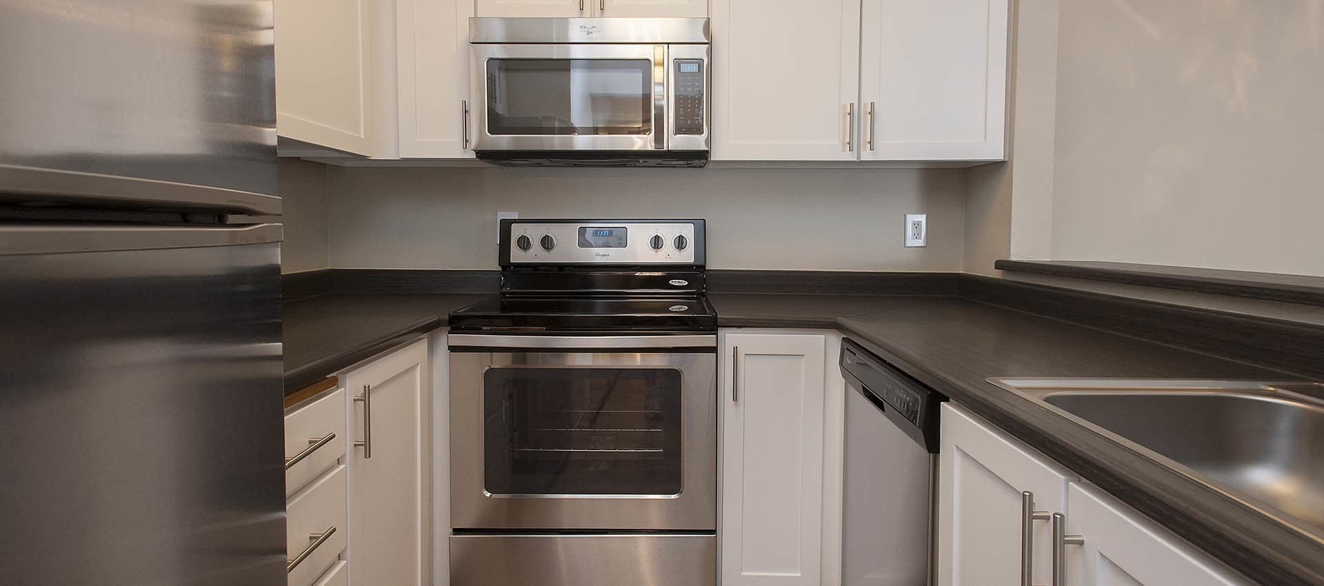 Luxury Kitchen With Stainless Appliances at Waterhouse Place in Beaverton, OR