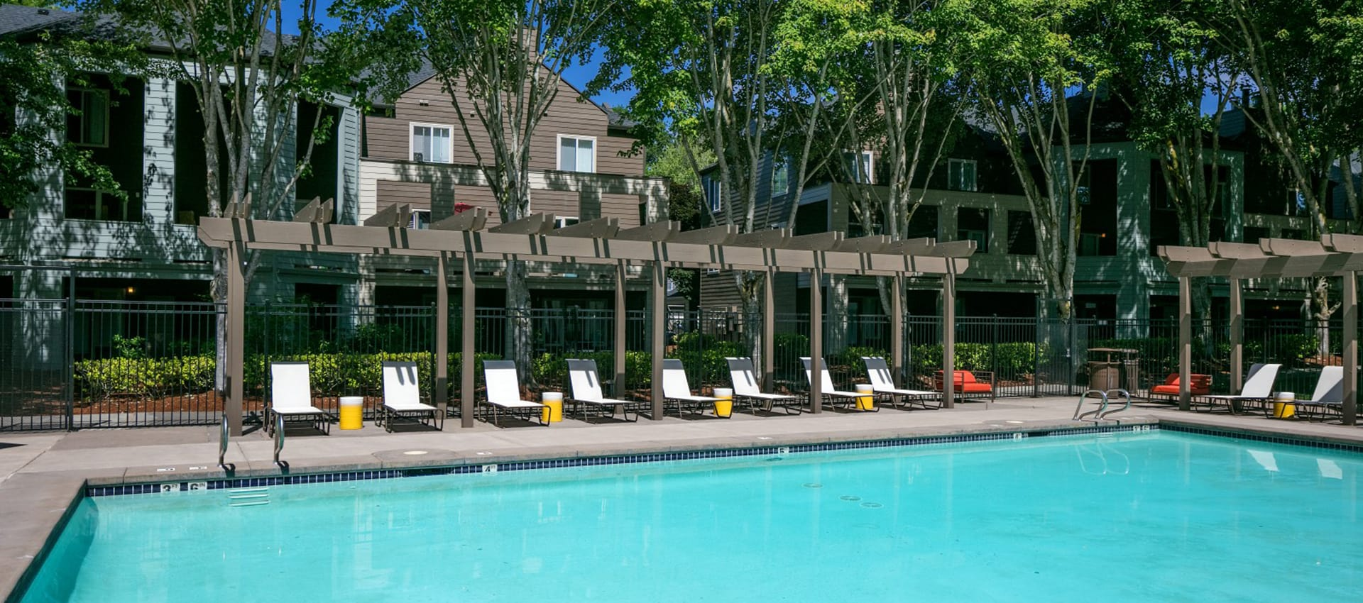 Expansive Pool Deck at Waterhouse Place in Beaverton, OR