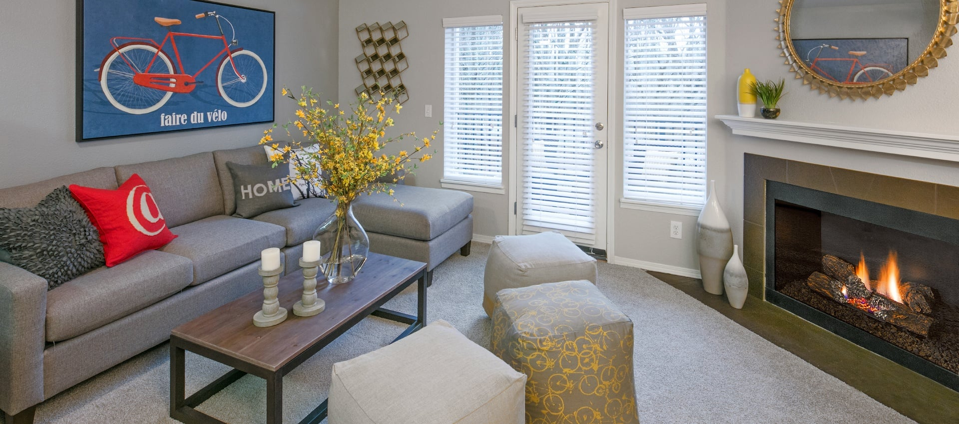 Colorful Living Room at Waterhouse Place in Beaverton, OR