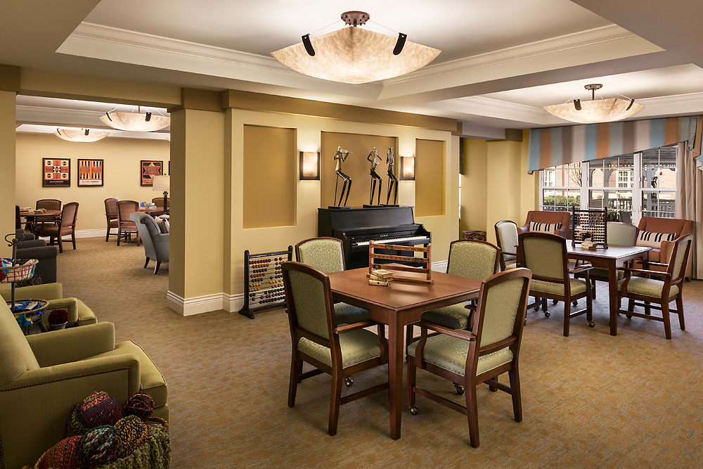 The music room at Cedarbrook of Bloomfield Hills