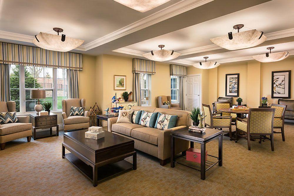 A view of the retreat lounge at our senior living community in Bloomfield Hills, MI