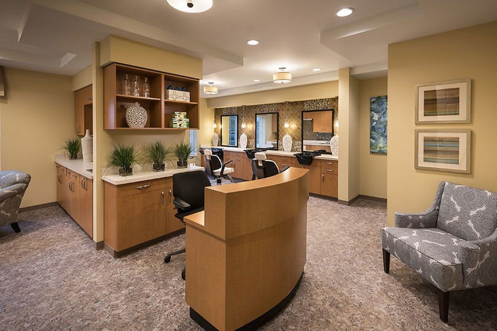 Amenities at our Bloomfield Hills senior living community include a salon