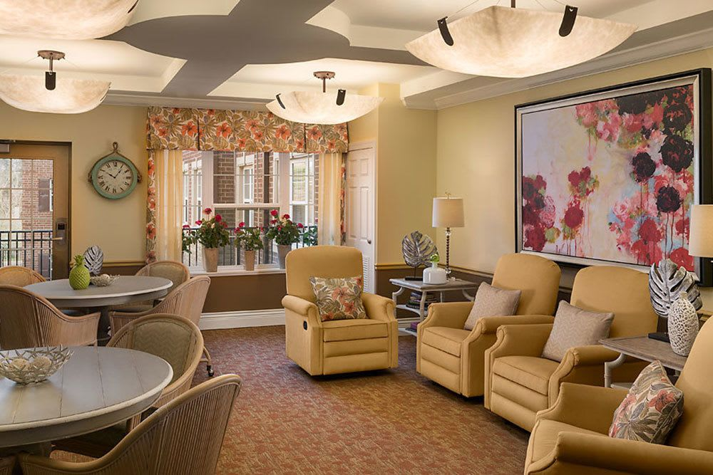 Relax in the sun room at Cedarbrook of Bloomfield Hills