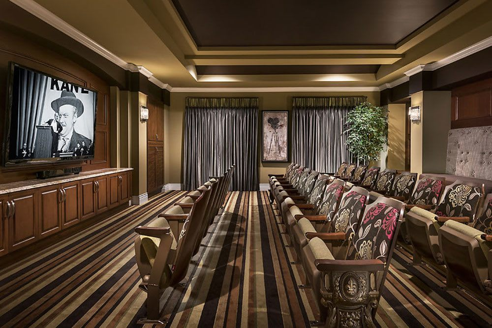 Residents at Cedarbrook of Bloomfield Hills enjoy access to a private movie theater