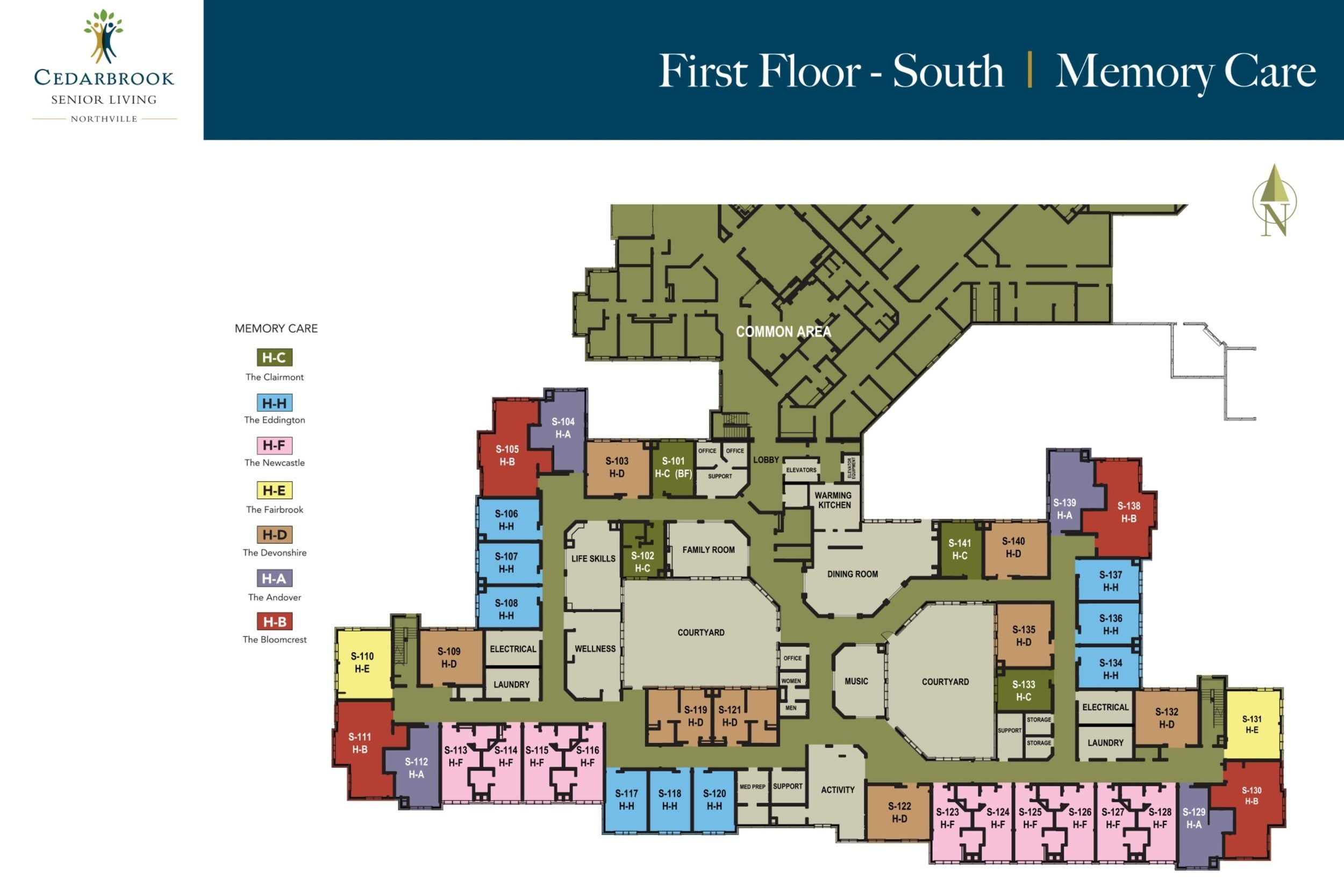 First Floor South - Memory Care