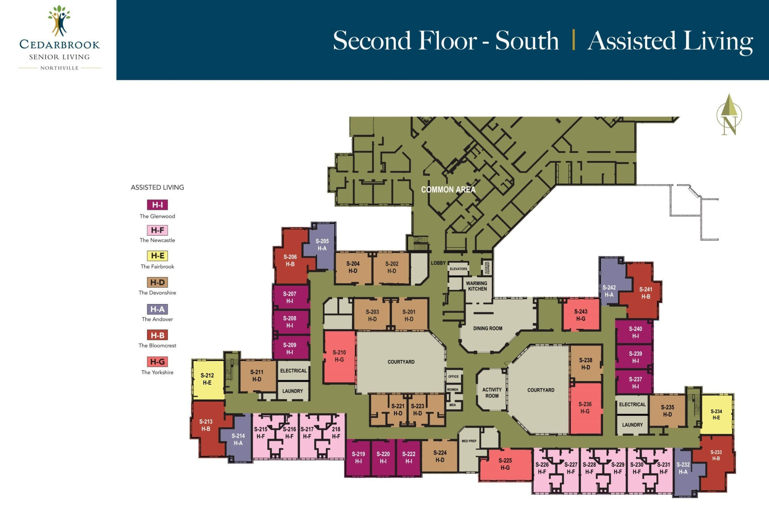 Second Floor South - Assisted Living