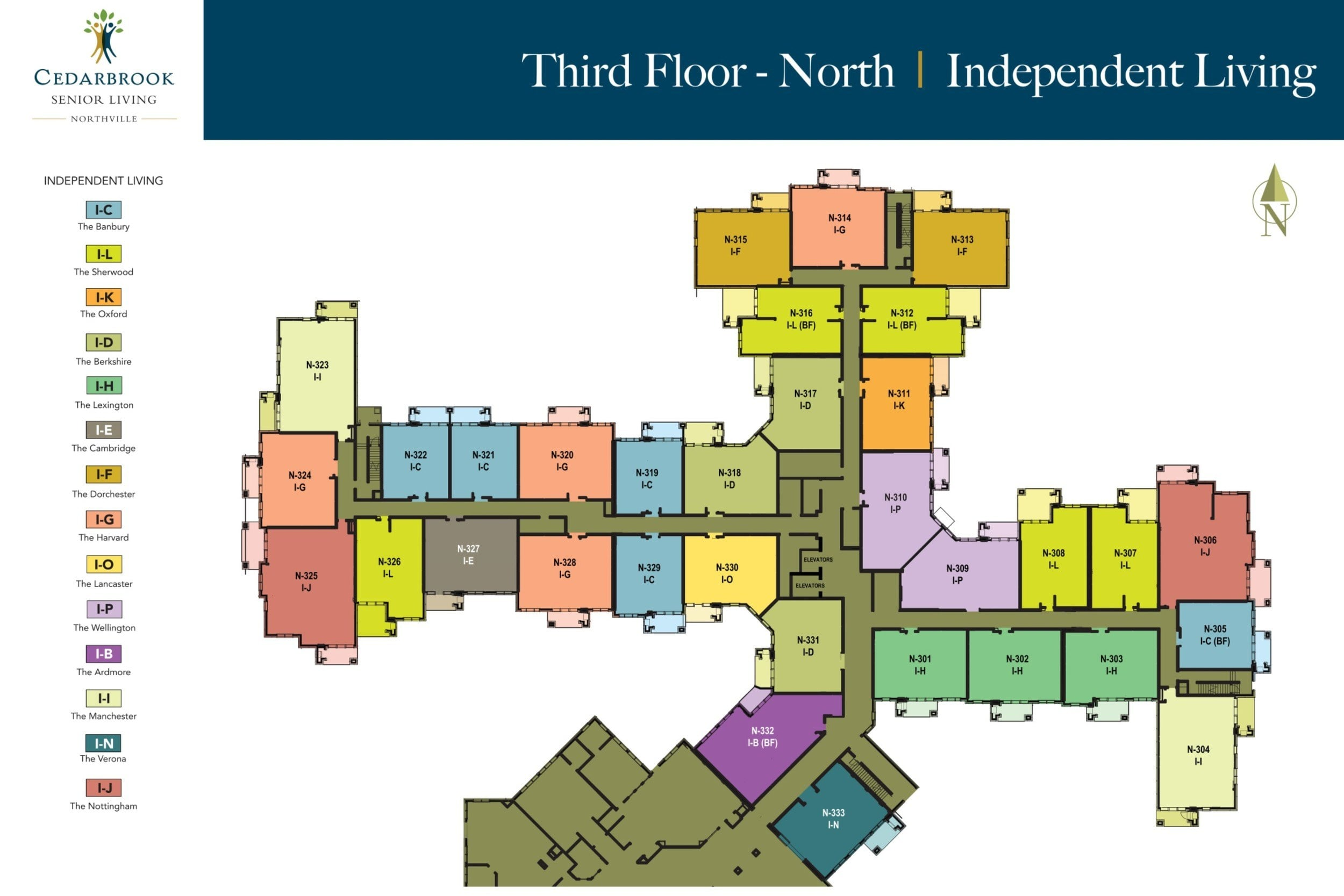 Third Floor North - Independent Living