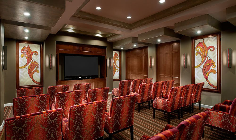 Alta Vista provides residents access to a private movie theater