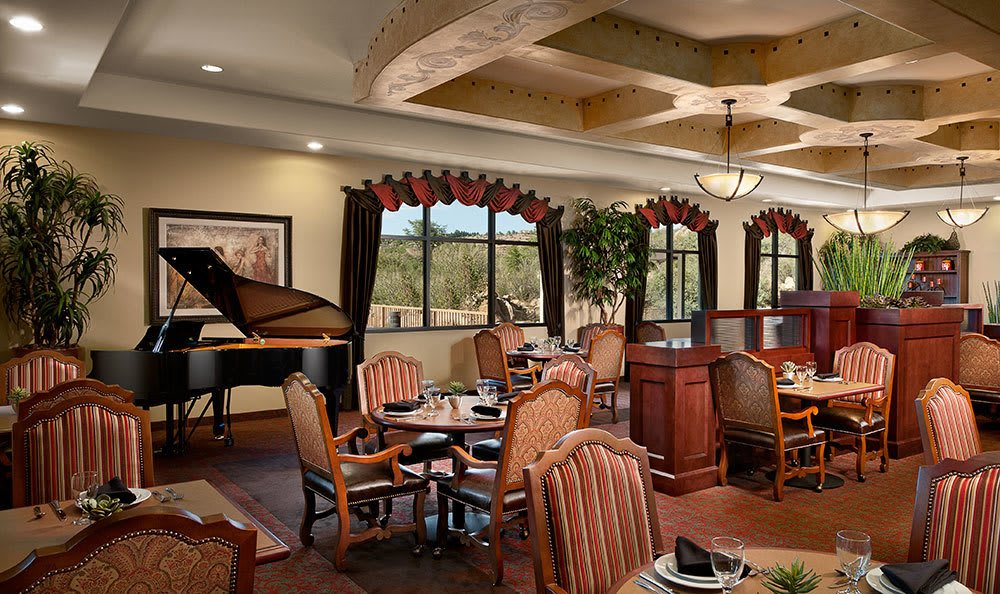 The dining room in our Prescott, AZ assisted living community