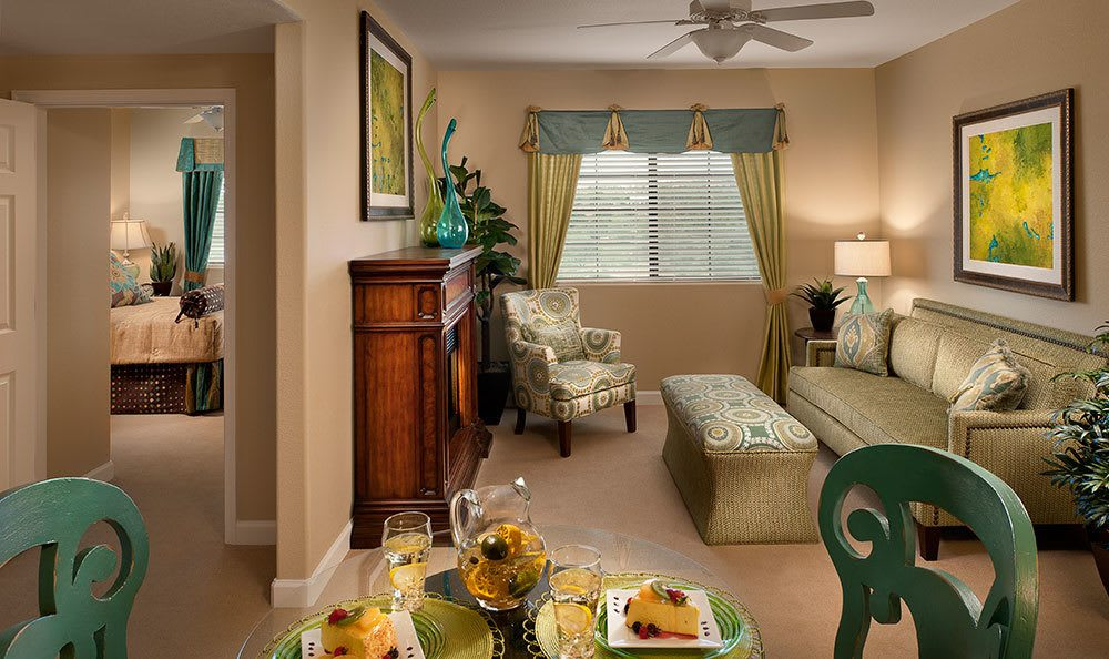 View of a bedroom in one of our senior apartments in Prescott, AZ