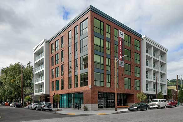 Exterior of building at Montessa in Portland, Oregon