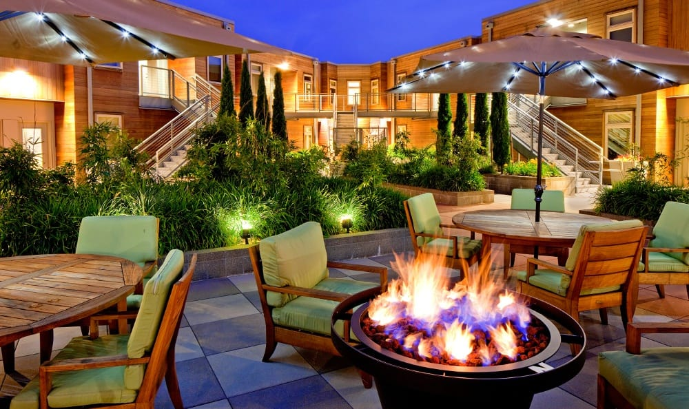 Fire Pit At Apartments In NEt Portland