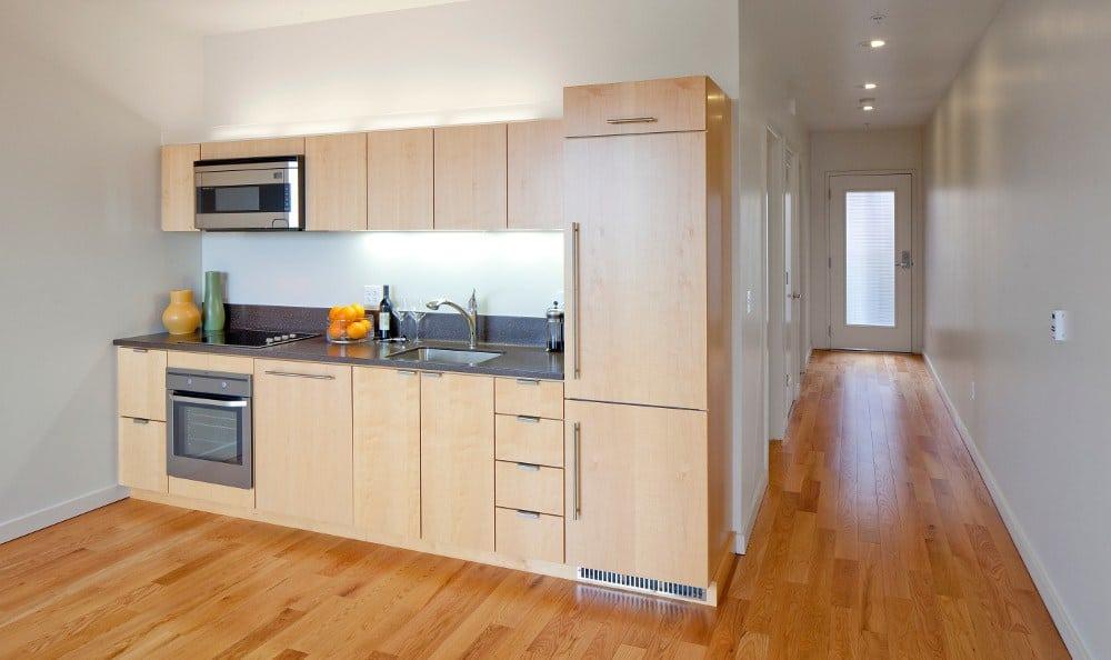 Spacious Kitchen At Apartments In NE Portland