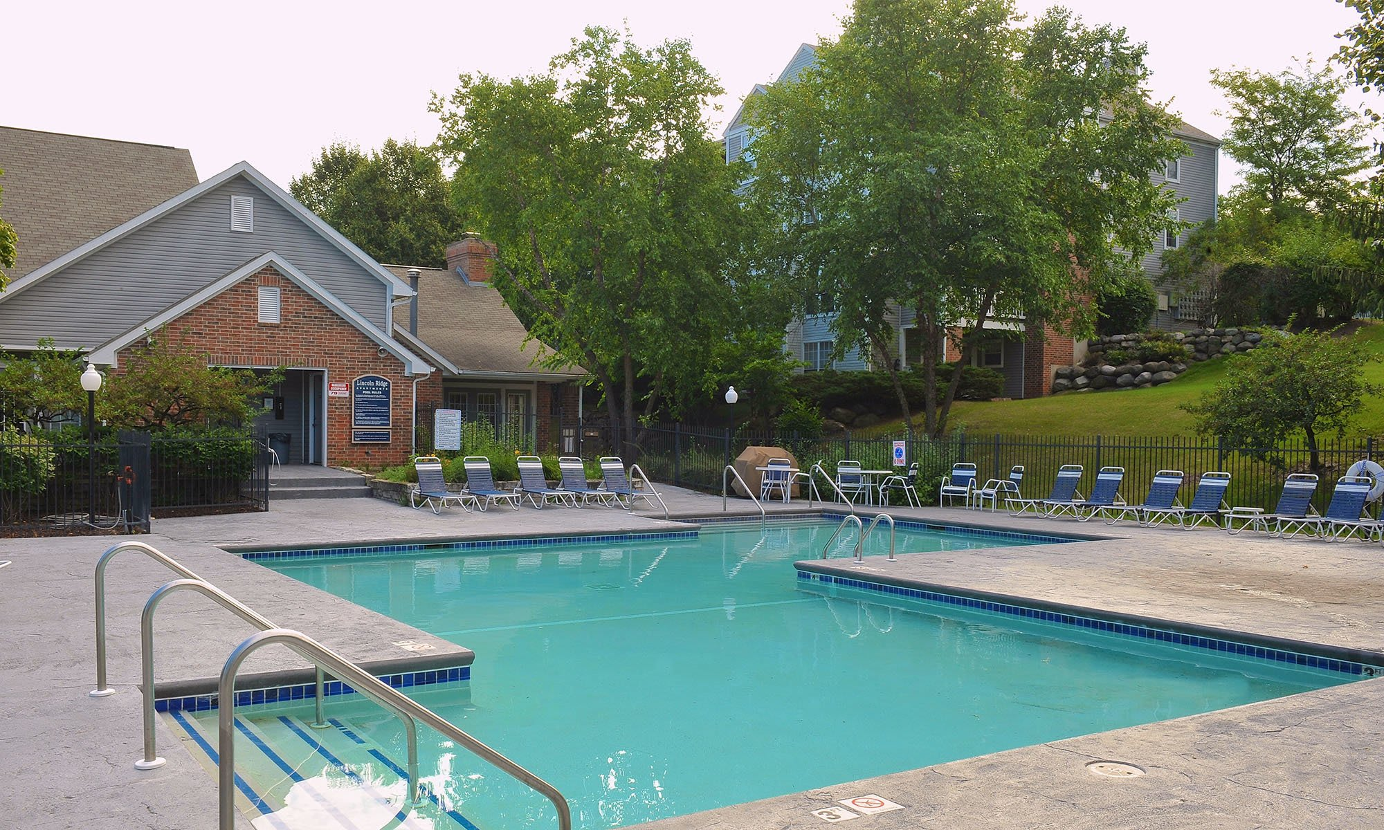 A swimming pool at a Blake Capital Corp community.