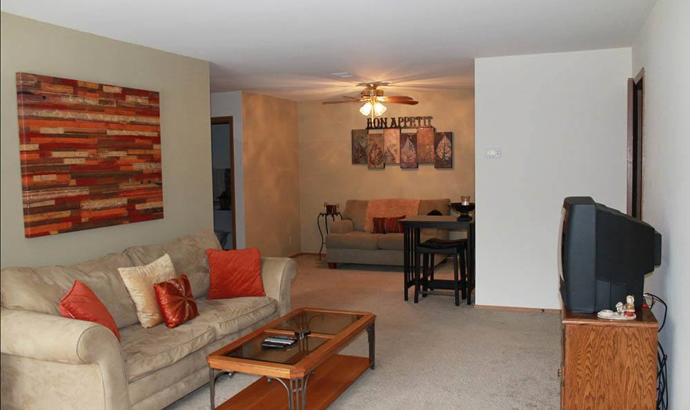 spacious living room in West Allis
