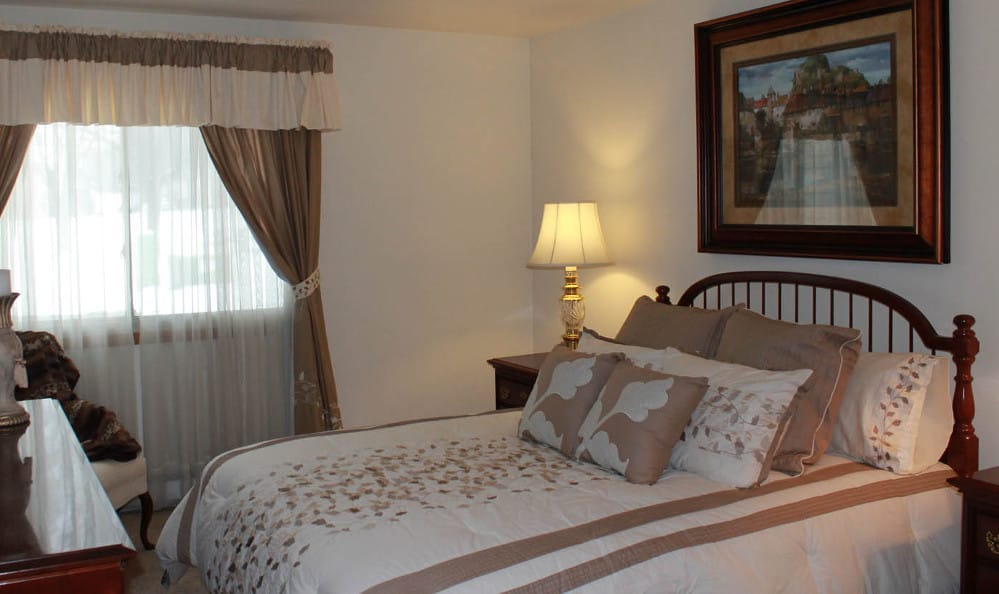 Spacious bedroom at Briarwick Apartments in Greenfield, WI