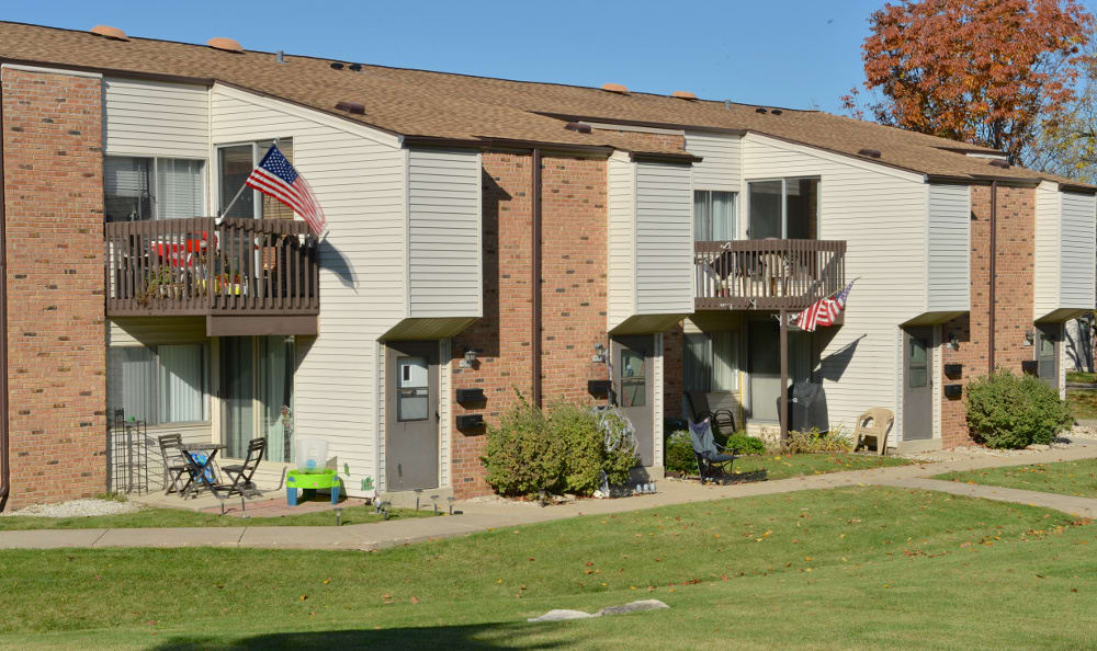 Big yard for your family and pets to play at Briarwick Apartments in Greenfield, WI