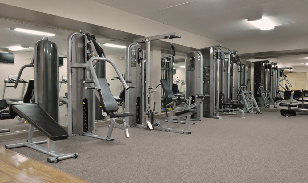 Stay in shape in our fitness center at Briarwick Apartments in Greenfield, WI