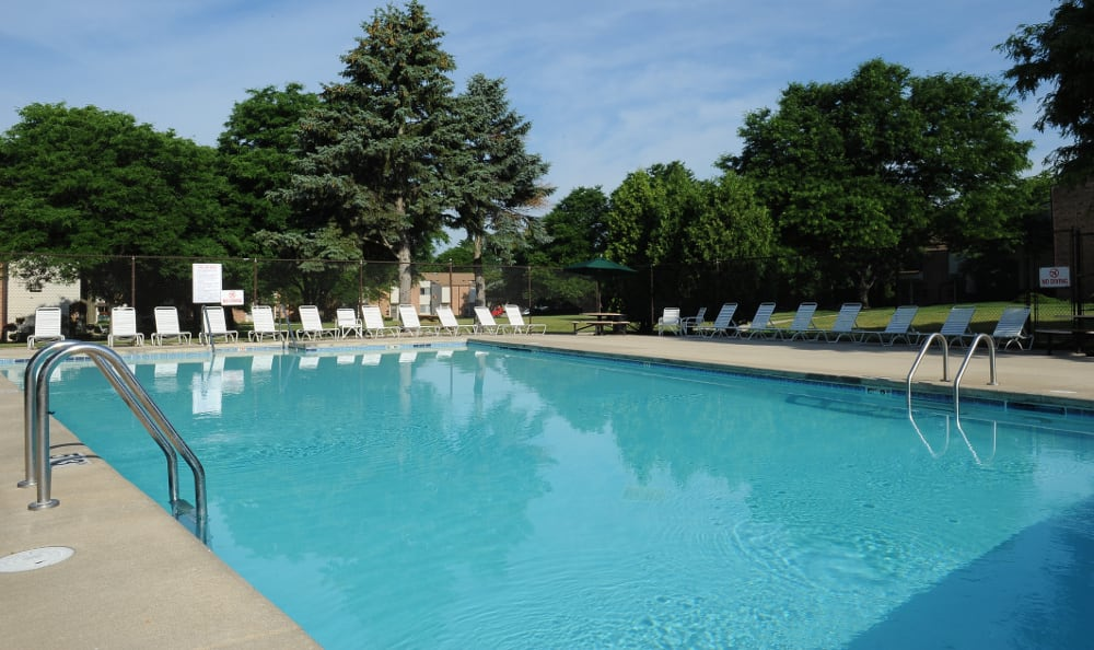 Come take a swim in our pool at Briarwick Apartments in Greenfield, WI