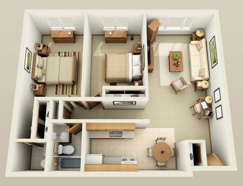 Ashford floor plan for Lincoln Crest Apartments
