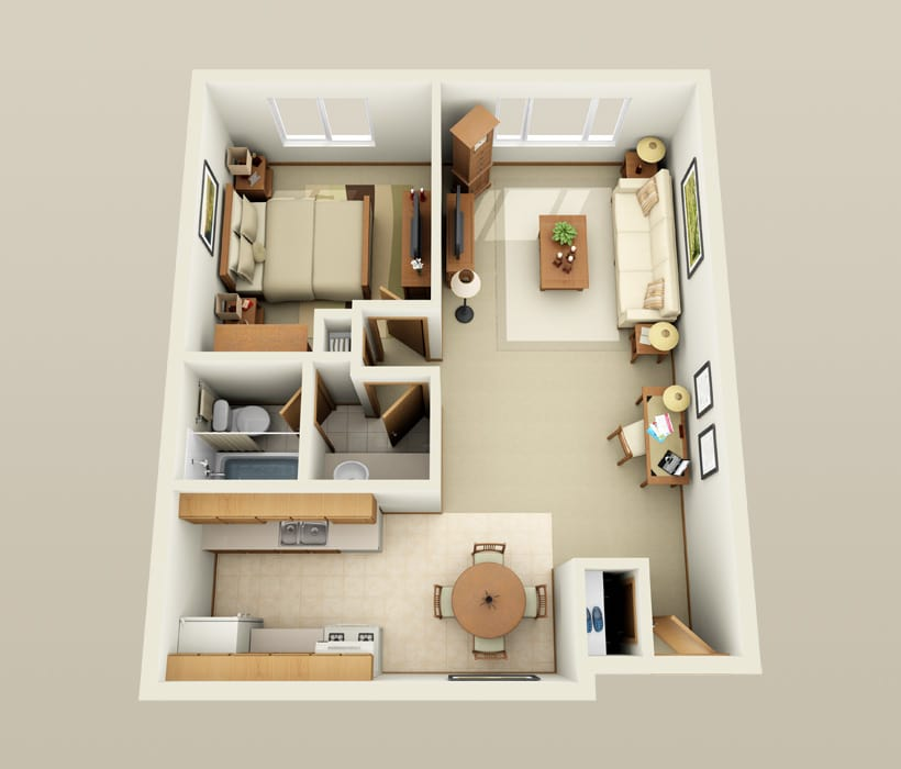 Buckingham floor plan at Lincoln Crest Apartments