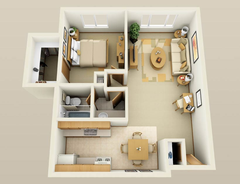 Stratford floor plan for Lincoln Crest Apartments