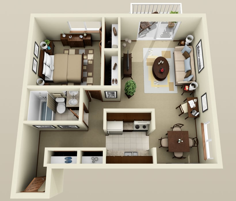 Berkshire floor plan at Piccadilly Apartments