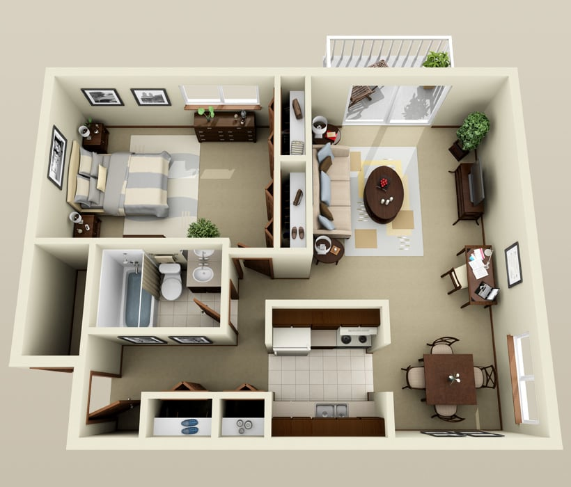 Essex floor plan at Piccadilly Apartments