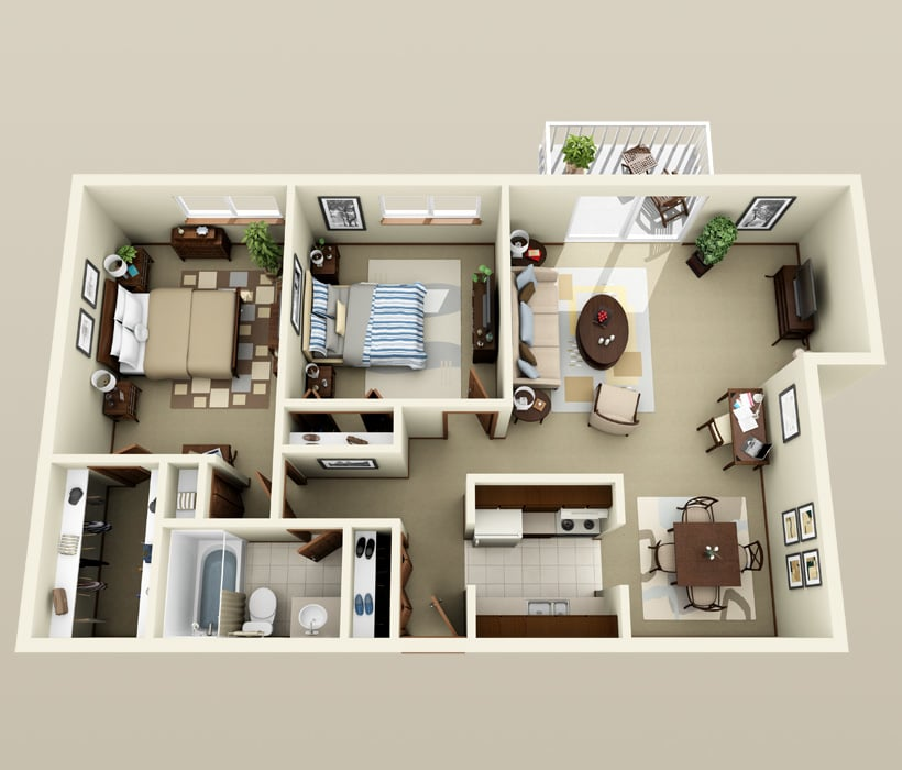 Yorkshire floor plan at Piccadilly Apartments