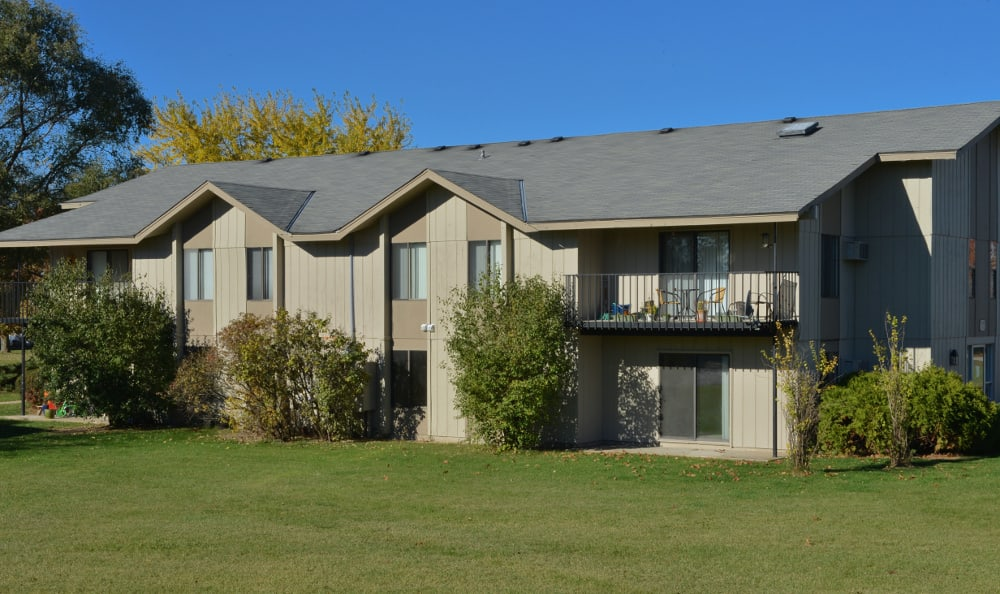 Exterior of apartments at Parquelynn Village Apartments in Nashotah, WI
