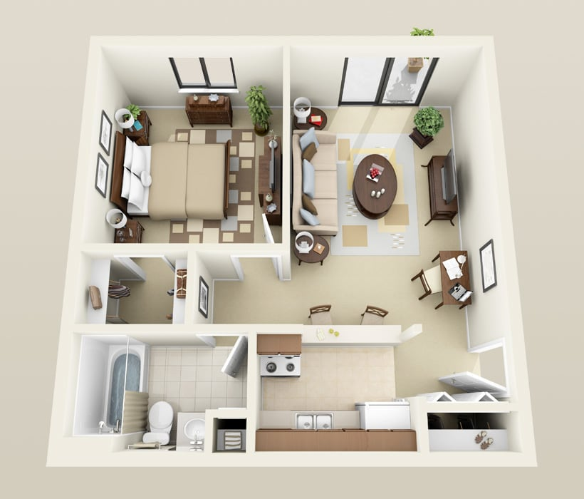 Stanton floor plan for Heather Downs Apartments