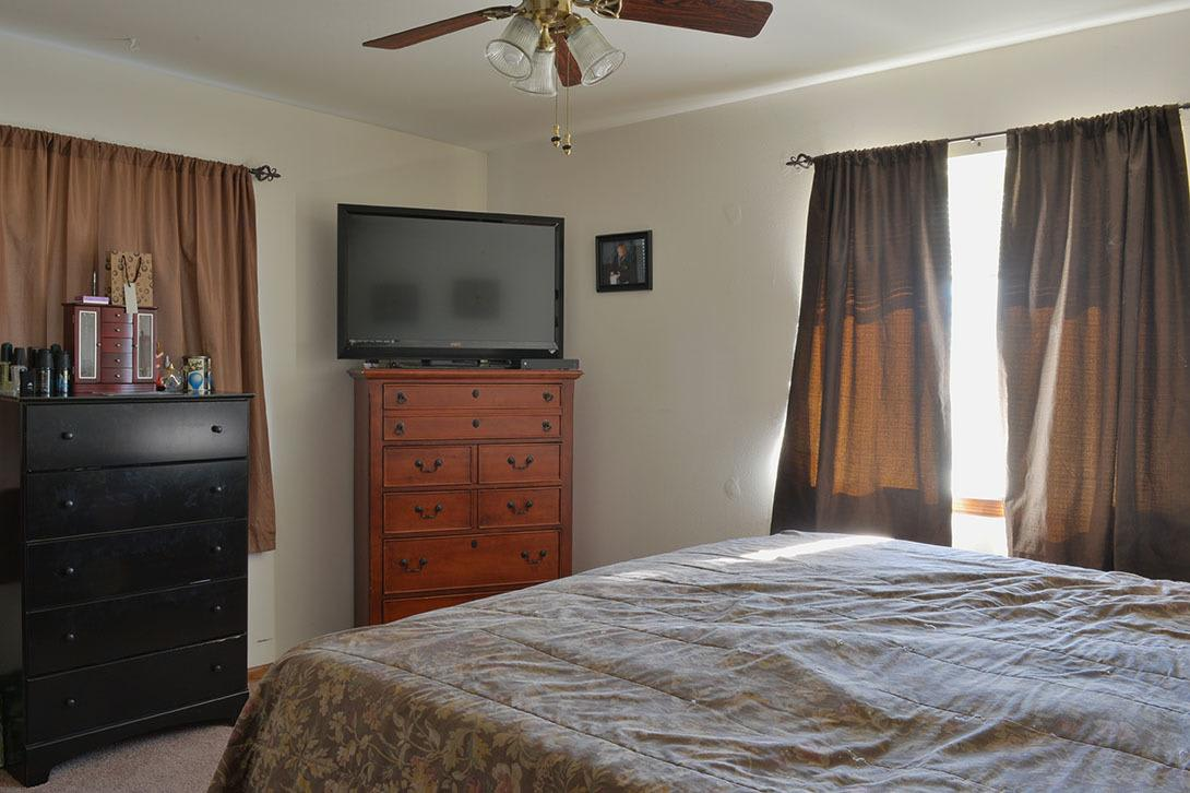 Spacious bedroom at Heather Downs Apartments