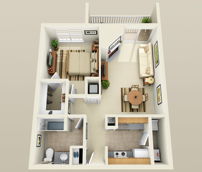 A-2 floor plan at Lincoln Ridge Apartments