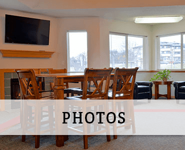 Dining room at Pleasant Prairie apartments for rent.