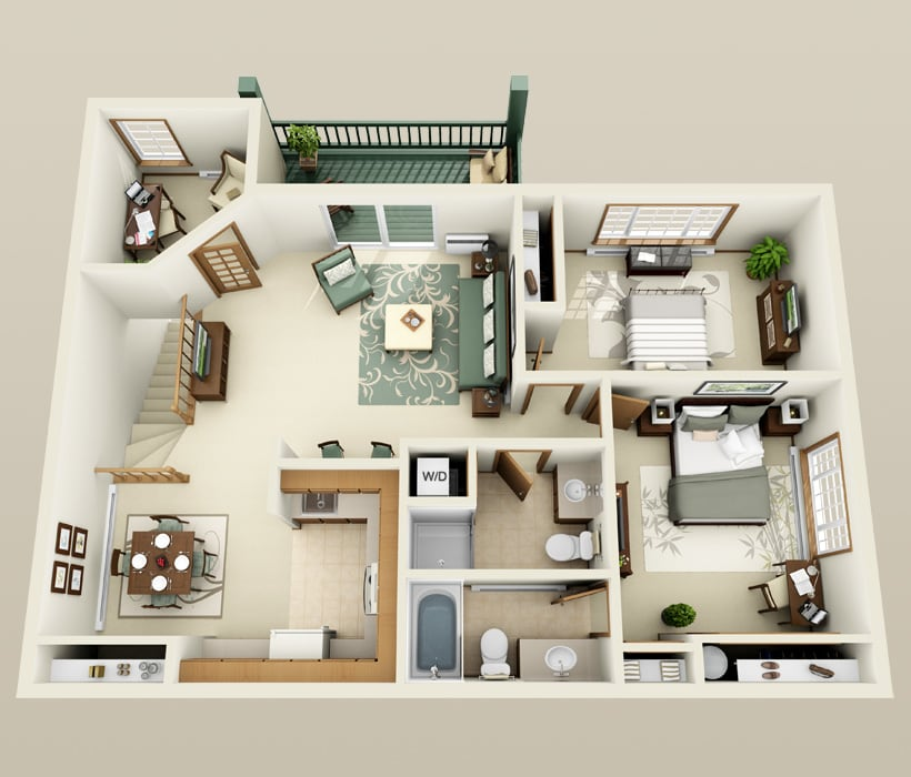 Geneva floor plan for The Ridges of Geneva East