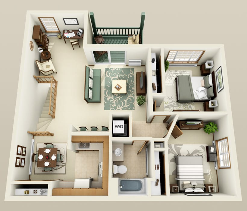 Laurel floor plan at The Ridges of Geneva East
