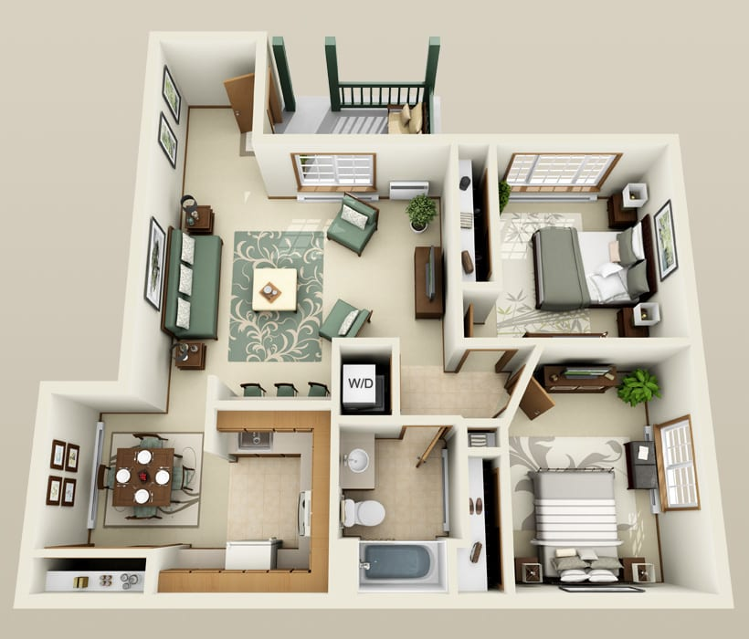 Oakwood floor plan at The Ridges of Geneva East