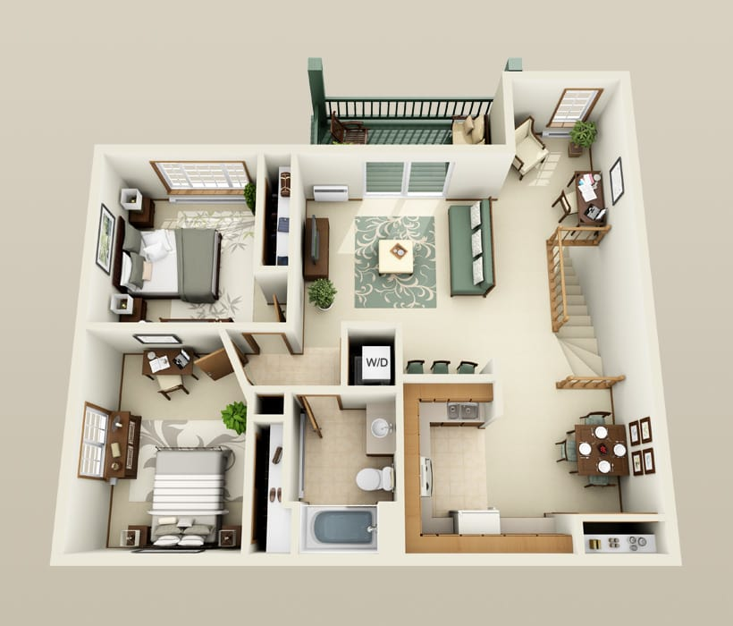 Woodsview floor plan for The Ridges of Geneva East