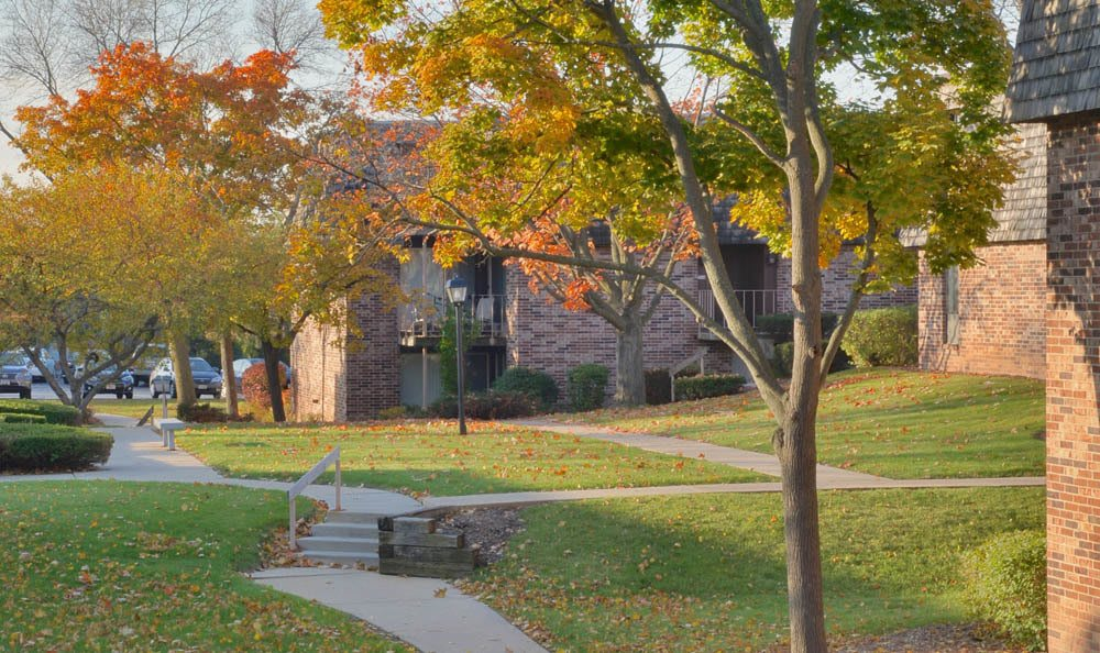 Fall Exterior At Normandy Village Apartments In Wauwatosa