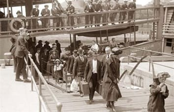John Hayman arrives at Ellis Island in 1910.