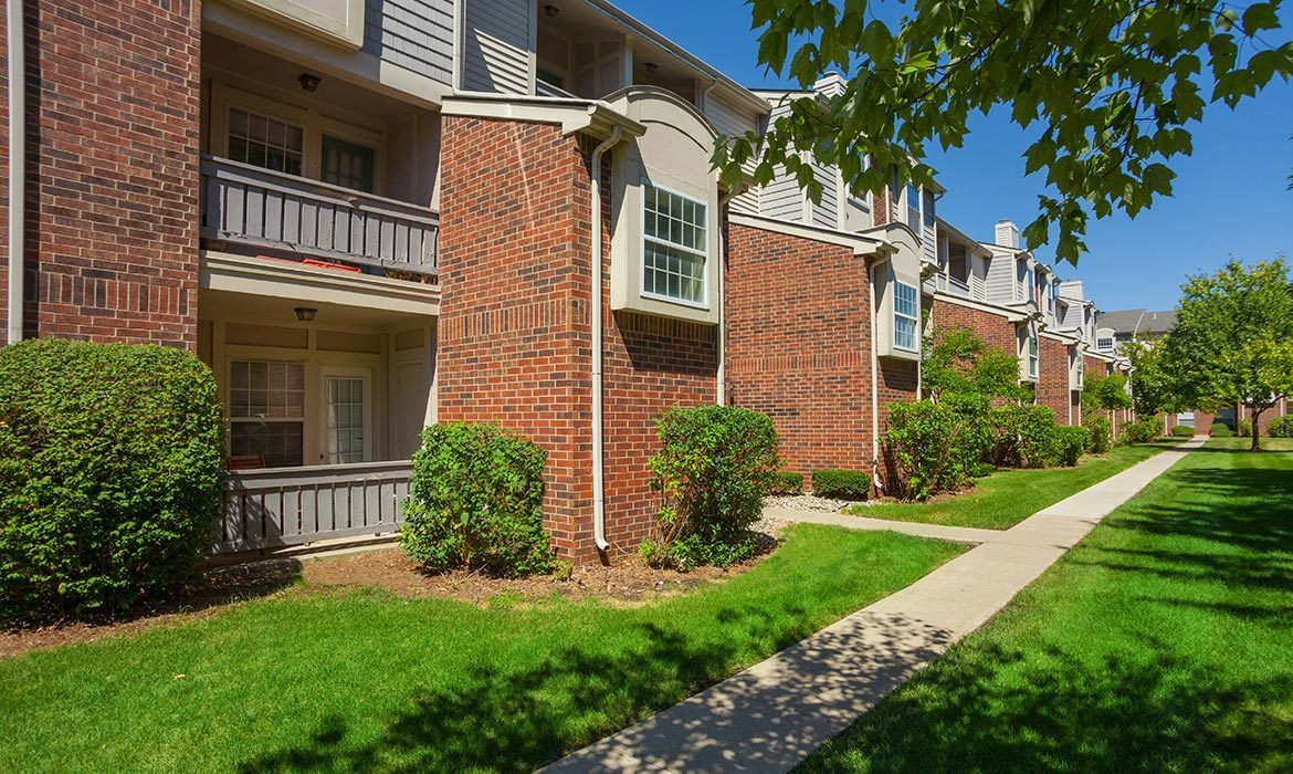 You'll see the landscaping is always immaculate at Fairlane Meadow Apartments in Dearborn, MI