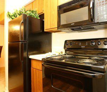 Kitchen at Biltmore Park Apartments in San Antonio