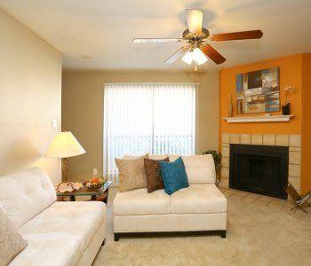 Living room view at Biltmore Park Apartments in San Antonio